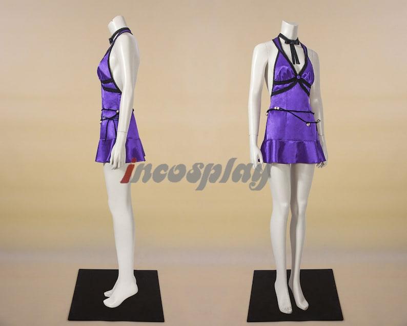 Purple Tifa Lockhart Dress Cosplay Final Fantasy VII Remake Costume