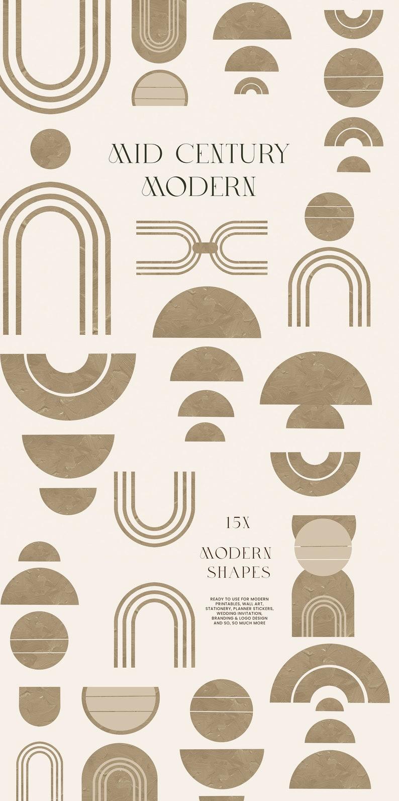 mid century modern shape PNG modern boho symbol clip art Abstract ...