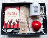 Dracula Cosy Book Club Box Bram Stoker literary gift book lovers classic novel reading book was better pin badge bookworm