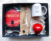 Frankenstein Cosy Book Club Box literary gift book lovers classic novel reading pin badge Mary Shelley