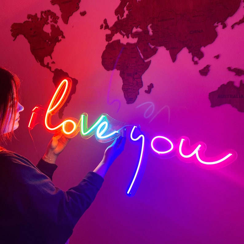 I Love You Neon Light Sign Wedding LED Custom- Gift For Her Or Him Gift For Couples Unique hand crafted custom neon sign for decoration