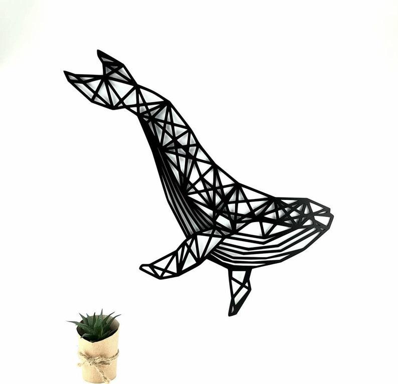 Wooden Geometric Whale