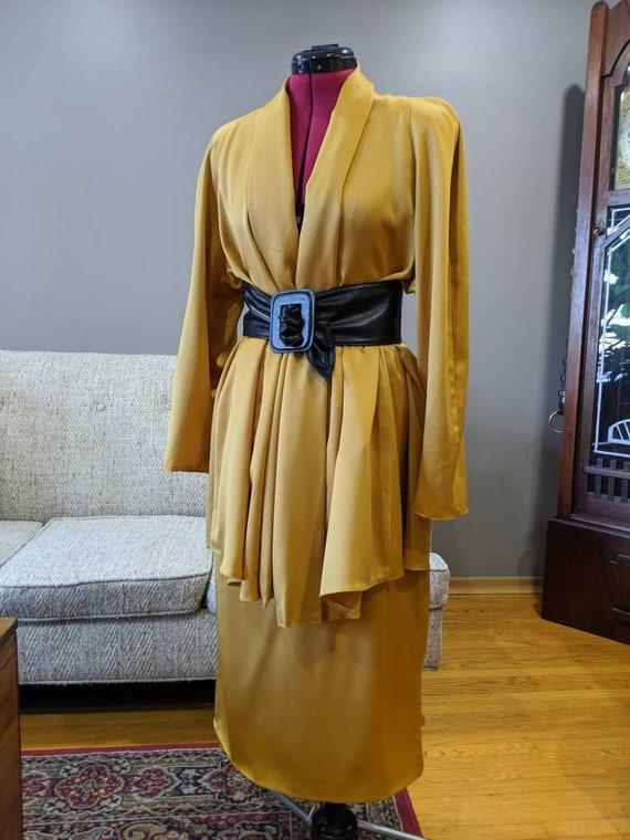 Extra shoulder pads please! Vintage 80 skirt and j