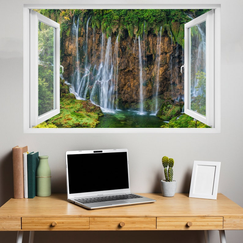 Rain Forest Majestic Waterfall River Wall Sticker Art Poster Mural Decal Room Office Nursery Decor ID203