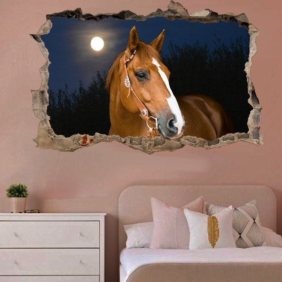 Beautiful Brown Horse Wall Mural Sticker Poster Decal Room Office Nursery Decor ID111