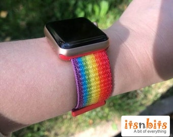 Rainbow LGBTQ Pride Watch Band Fits Apple Watch Strap Sports Band Love Gay Pride Watch Band 38mm 40mm 42mm 44mm Band Series 4 3 2 1 LGBT