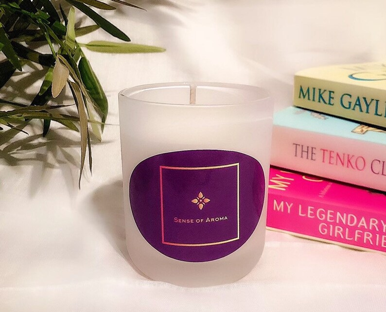 Luxury Scented Candles 20CL 100% Eco-Soy Wax Hand Made 5 Violet, Lily & Rose