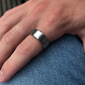 5mm x 1.25mm Polished Silver Band Ring Sterling Silver Made to Order