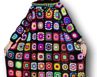 Black Coat Women, Long Women Coat, Oversize Crochet Cardigan, Oversize cardigan women,