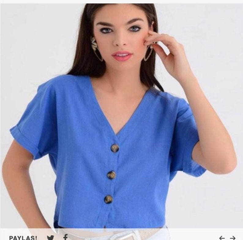 Linen tops Linen top Summer linen top Linen tunic top Women/'s top blue Blue women/'s top Blue top Boho linen top Blue tunic top