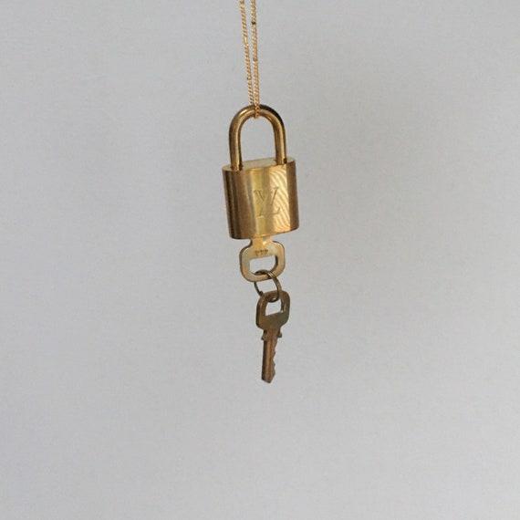 Vintage Louis Vuitton padlock necklace 2000s y2k
