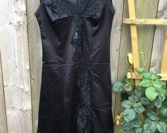 Vintage 90s slip dress camisole corset dress nightdress y2k evening dress