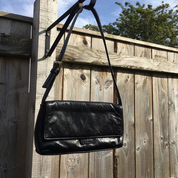 Vintage y2k shoulder bag leather mini handbag