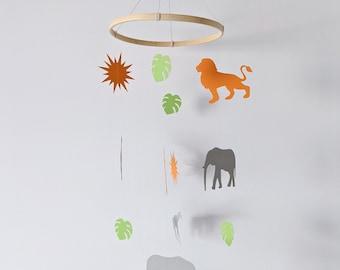 Mobile baby | Savannah | Animals Kirigami, cut paper, papercut