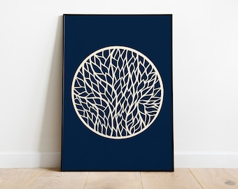 Circle-inspired leaves, cut paper foliage, papercut, kirigami