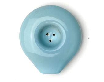 Baby Blue Ceramic Circle Smoking Pipe