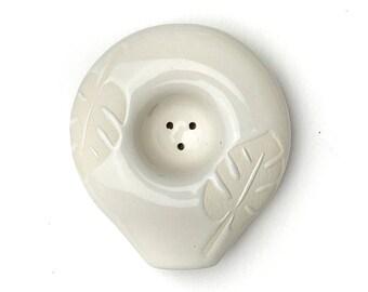 White Monstera Circle Pipe