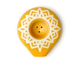 Sunny Mountain Circle Ceramic Pipe