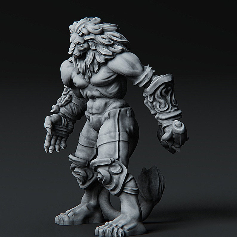 Leonidal Agathion miniature for Pathfinder Dungeons and Dragons