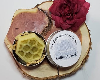 Our Story Was Meant to Bee 25 Wedding or Bridal Shower Personalized Lotion Bar Favors