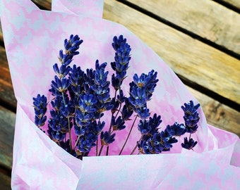 Dried Lavender Bundle 20 stems of at least 6 inches each, sun dried, safe for food or skin care