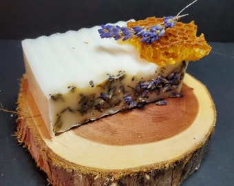 Goat Milk Soap - Lavender and Honey, Campfire at the Farm or Tumeric and Lemon Luffa