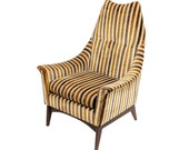 Mid Century Tall Lounge Chair in Adrian Pearsall Style