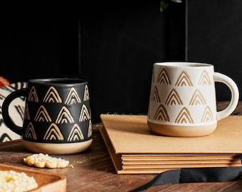 Tea Mug, Coffee Mug, 360ml Hand decorated Mug, Decorated Housewarming Gift, Kitchen and Dining, Large Mug, Cappuccino Latte Premium Mug