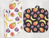 Fruit Theme Pot Holder Set Kitchen Decor Kitchen Oven Mitt and Pot Holder Set