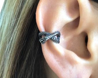 Snake Ear cuff, Serpent ear cuff, gothic ear cuff, stainless steel earrings, ear cuff, gothic earrings,Snake jewelry, Snake earrings