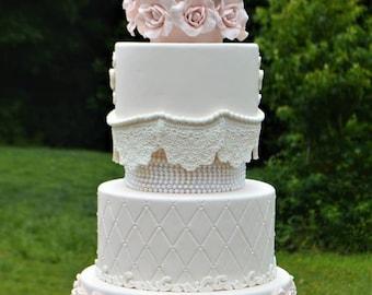Faux Wedding Cake, Fake Wedding Cake, Wedding Cake, Display Cake, Centerpiece, Photo Prop