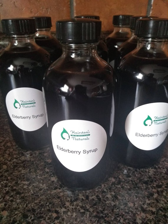 Organic Elderberry Syrup 8oz or Capsules 30