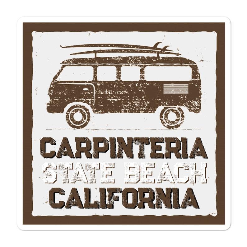 fisher gift California love Carpinteria State beach decal Window sticker