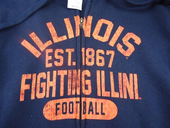 Vintage Fighting Illini Illinois football hoodie