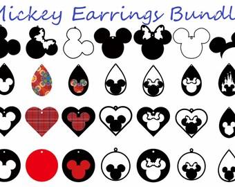 Mickey Earrings Svg Etsy
