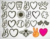 Peace Love SVG Bundle, SVG File For Cricut, Cut File, Instant Download, Peace Love Svg, Png, Eps
