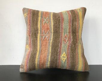 Geometric Long Kilim Pillow Cover 12x51