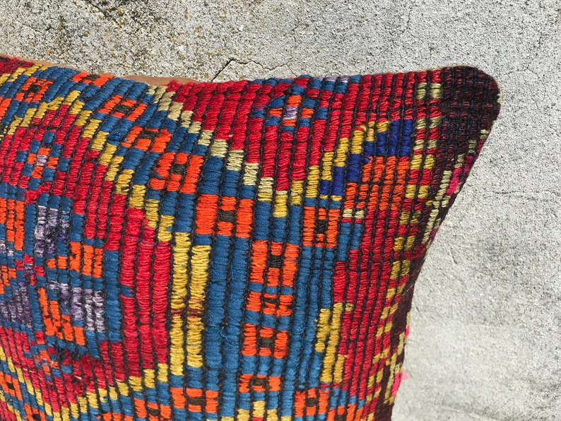 Turkey Kilim Pillows 20x20 Pillow Couch Cushion Sofa Pillow Case Cover Vintage Home Decor Couch Throw Pillow Covers Decorative Pillows
