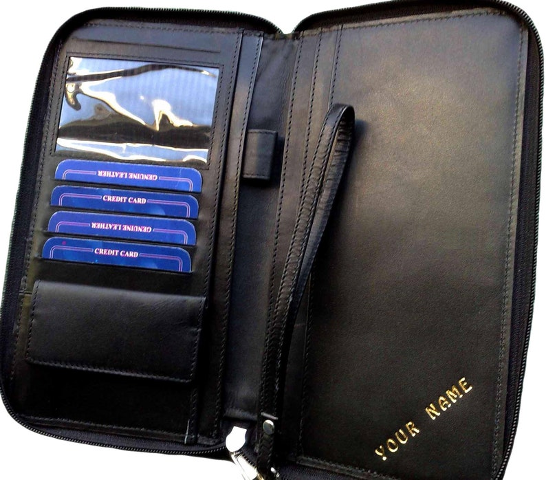Travel wallet Personalised ORGANISER Holder With RFID Cows image 0