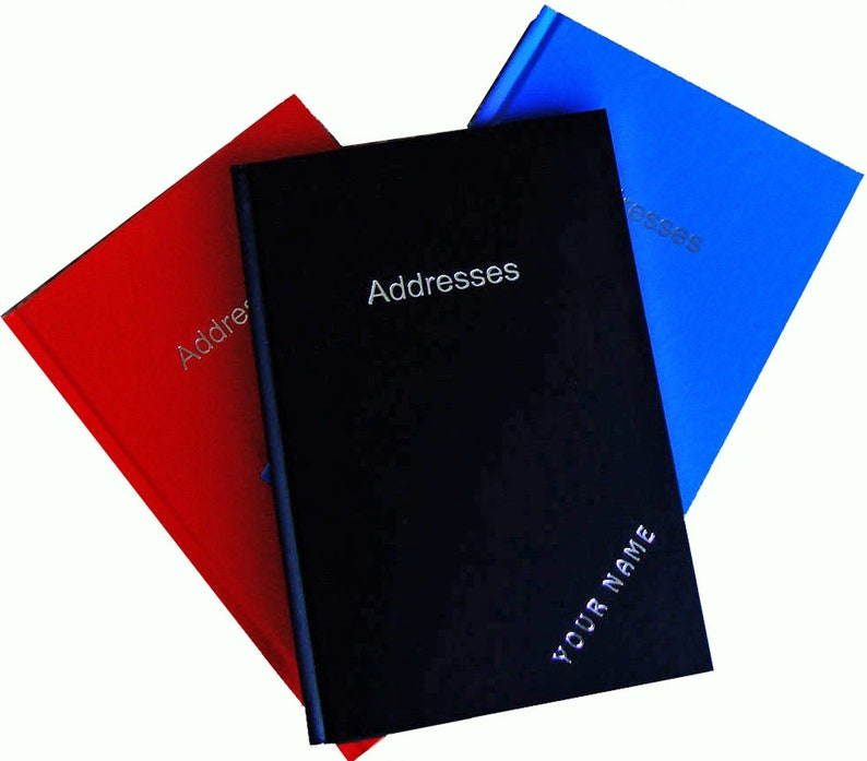ADDRESS / TELEPHONE BOOK Personalized 128 pages Indexed image 0