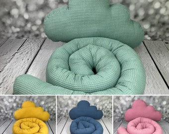 3D cloud pillow with bed snake for the nursery