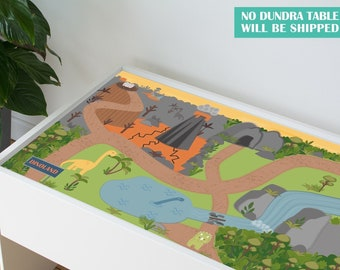 Dinoland decal for IKEA Dundra activity table (Dundra table NOT included)