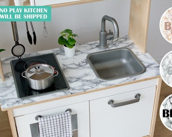 Marble countertop decal for IKEA Duktig play kitchen (play kitchen NOT included)