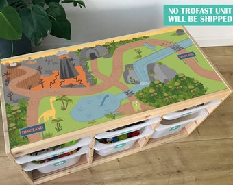 Dinoland decal for IKEA TROFAST pine storage system (Trofast unit NOT included)
