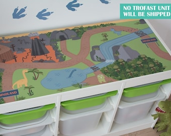 Dinoland decal for IKEA Trofast WHITE storage system (Trofast unit NOT included)