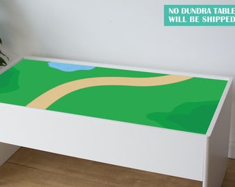 Green countryside decal for IKEA Dundra activity table (Dundra table NOT included)