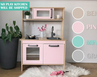 Decals for IKEA Duktig play kitchen, pink, blue, gray, beige (play kitchen NOT included)