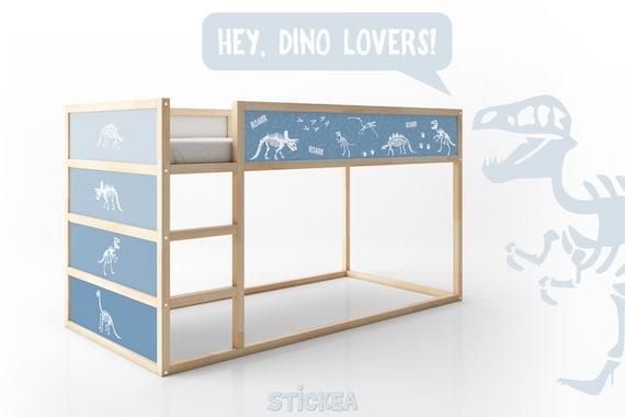 Dinosaur Decal For Ikea Kura Reversible Bed Blue Furniture Etsy