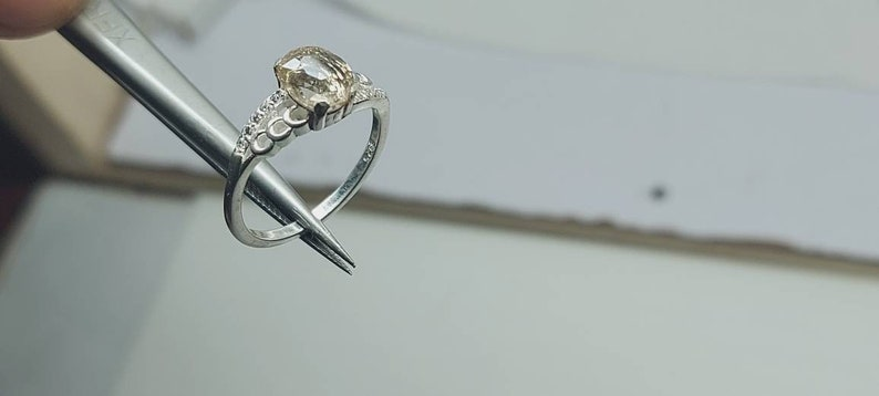 Topaz Silver 925 Ladies Ring.