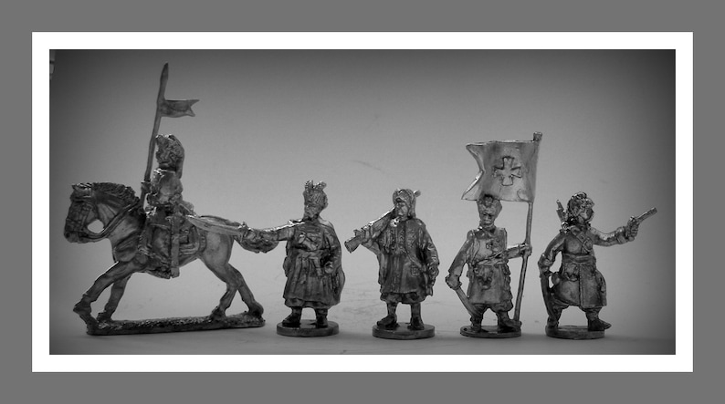 Toy Soldiers Action Figurines Ukrainian Cossacks 17 Century 30mm Figurines Tin Soldiers Statuettes Toys Figurines Sculptures Gifts Souvenirs